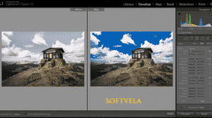 Adobe Photoshop Lightroom full screen and matching