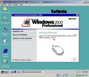 running windows 2000 via vm