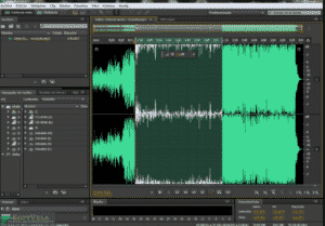 main editing screen in Adobe Audition CS6