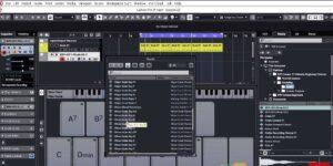 Screenshot of main dashboard music editing