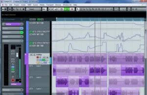 main dashboard of editing music